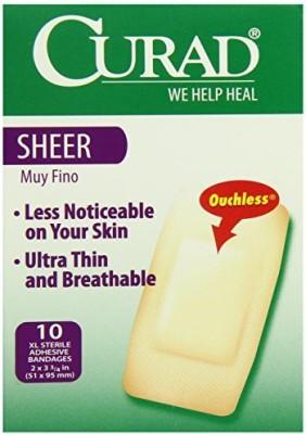 Curad Sheer Bandage Adhesive Band Aid(Set of 6)