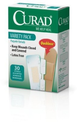 Curad Variety Pack Comfort Fabric Clear Waterproof Adhesive Band Aid(Set of 6)
