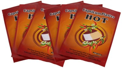 Henan Kangdi 12 X 18 Cms Hot Capsicum PAIN RELIEVING PATCHES-6 pcs Adhesive Band Aid(Set of 6)