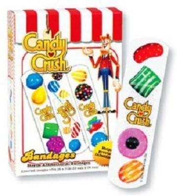 ASO LLC Candy Crush Antibacterial Bandages Adhesive Band Aid(Set of 1)