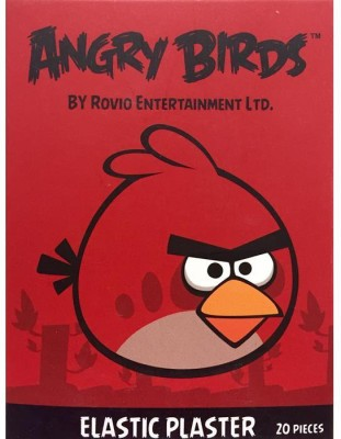 BAND-AID BANDAGES 20PK - ANGRY BIRDS Adhesive Band Aid