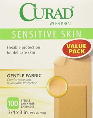 Curad Sensitive Skin Bandages Adhesive Band Aid(Set of 18)