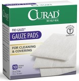 Curad Pro-gauze Gauze Pads for Cleaning ...