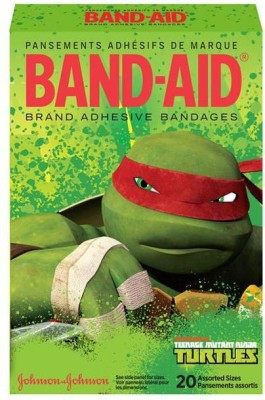 BAND-AID BANDAGES 20PK - TEENAGE MUTANT NINJA TURTLES Adhesive Band Aid