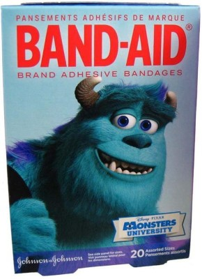 BAND-AID BANDAGES 20PK - MONSTERS UNIVERSITY Adhesive Band Aid