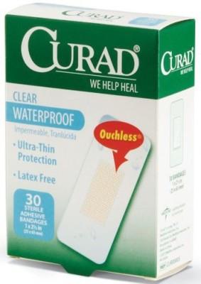 Curad Clear Waterproof Polyurethane Adhesive Bandages Adhesive Band Aid(Set of 3)