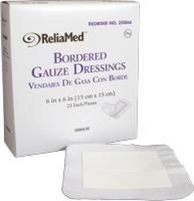 Reliamed Bordered Gauze Adhesive Band Aid(Set of 6)