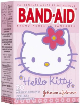 BAND-AID BANDAGES 20PK - HELLO KITTY Adhesive Band Aid
