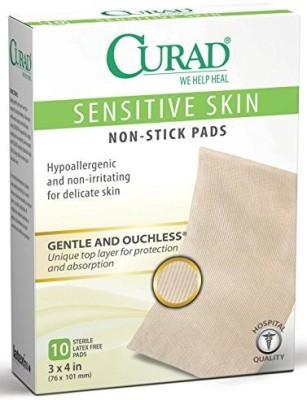Curad Sensitive Skin Non Stick Pad Adhesive Band Aid(Set of 12)