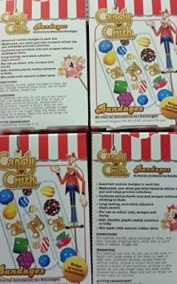 Candy Crush Bandages Adhesive Band Aid(Set of 20)