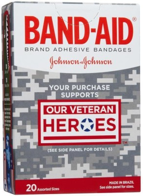 BAND-AID BANDAGES 20PK - OUR VETERAN HEROES Adhesive Band Aid
