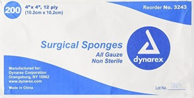 Dynarex SPONGE PLY NON STERILE Adhesive Band Aid(Set of 1)