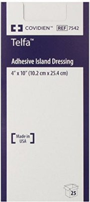 Covidien Telfa Adhesive Island Dressing Adhesive Band Aid(Set of 4)
