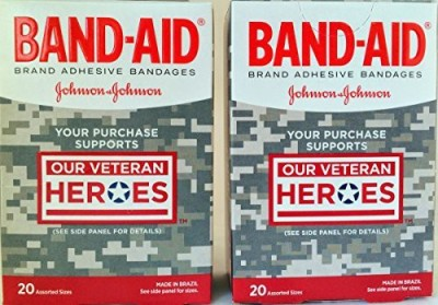 Johnson & Johnson Bandages Our Veteran Heroes Adhesive Band Aid(Set of 2)