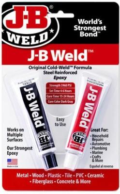 JBWeld Steel Reinforced Epoxy Adhesive