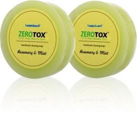 Healthbuddy Zerotox Handmade Rosemary And Mint Shaving Soap 2 Pcs Of 125 Gms Each