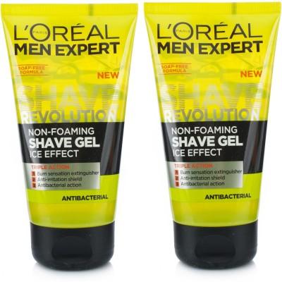 L,Oreal Paris Men Expert Non-Foaming Shaving Gel ( Pack Of 2 )(150 ml)