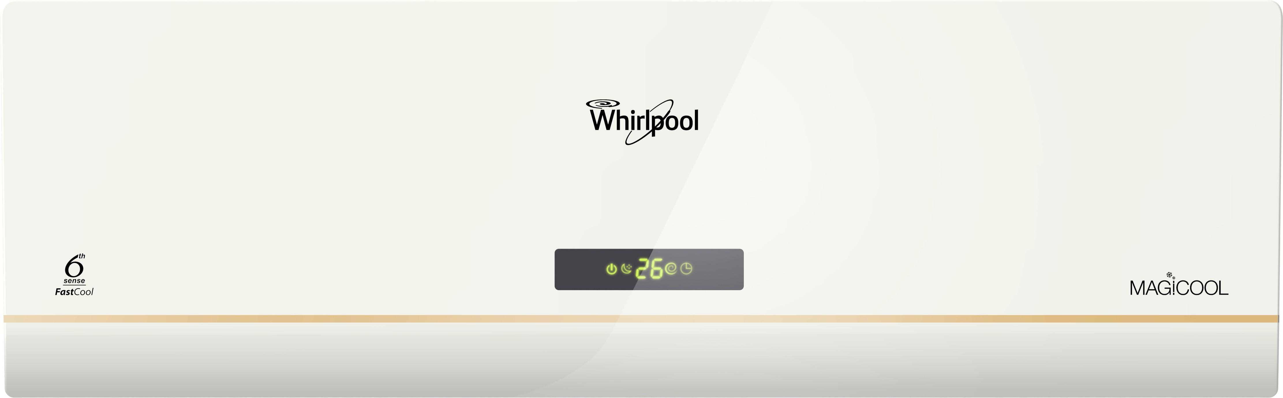 View Whirlpool 1 Ton 3 Star Split AC  - White Gold(1T MAGICOOL DLX COPR 3S, Copper Condenser)  Price Online