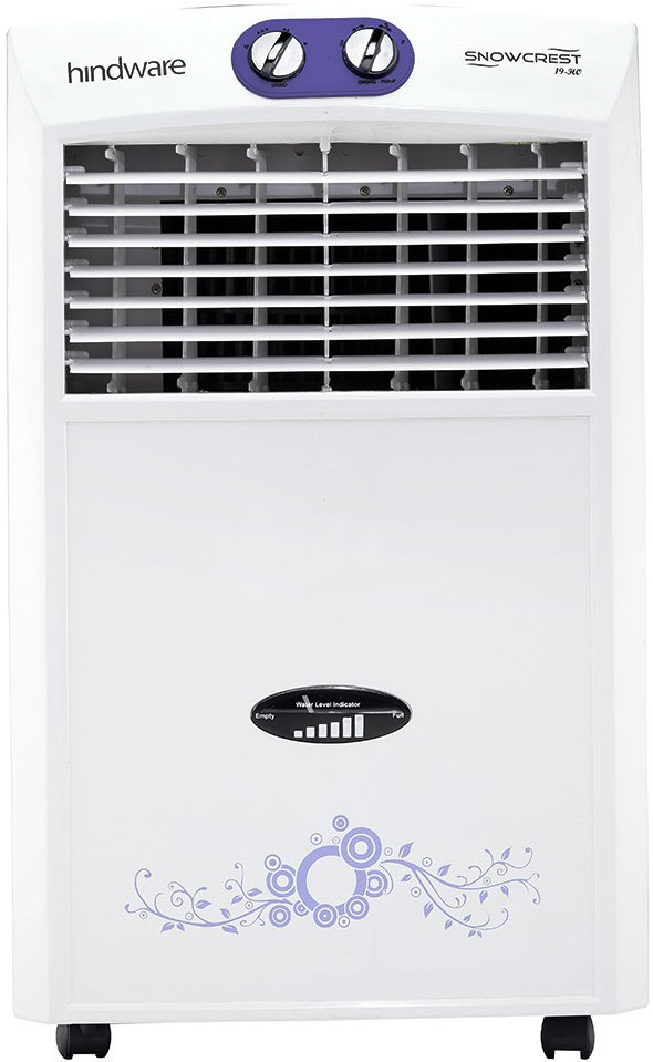 View Hindware Snowcrest Room Air Cooler(White & Lavender, 19 Litres) Price Online(Hindware)