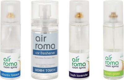AirRoma Atlantic Breeze, Denim Touch, Fresh Lavender, Lemon Grass Home Liquid Air Freshener(660 ml)