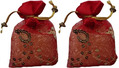 Miracle Perfume Potli - Set of 2 Red Rose Car  Perfume Gel