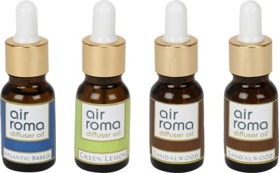 AirRoma Atlantic Breeze, Green Lemon, Sandalwood Home Liquid Air Freshener(90 ml)