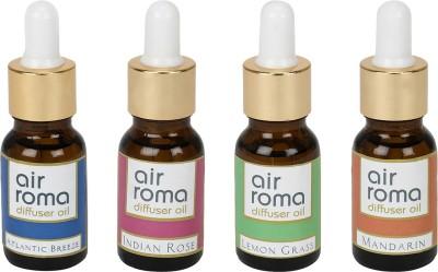 AirRoma Atlantic Breeze, Indian Rose, Lemon Grass, Mandarin Home Liquid Air Freshener(60 ml)