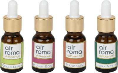 AirRoma Green Lemon, Indian Rose, Mandarin, Mogra Flower Home Liquid Air Freshener(90 ml)