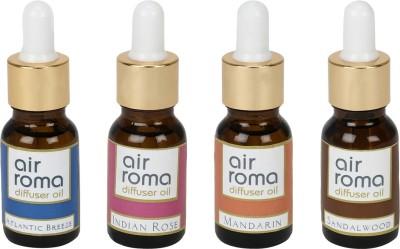AirRoma Atlantic Breeze, Indian Rose, Mandarin, Sandalwood Home Liquid Air Freshener(90 ml)