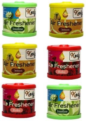 eNew Kedy Car & Care Accessory Combo KC12 Lemon Jasmine Rose Liquid Air Freshener