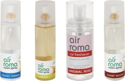 AirRoma Atlantic Breeze, Jasmine, Original Rose, Sweet Sandal Home Liquid Air Freshener(660 ml)