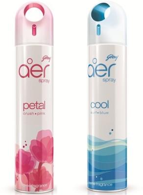 Godrej Aer Spray Petal Crush Pink + Cool Surf Blue Liquid Air Freshener