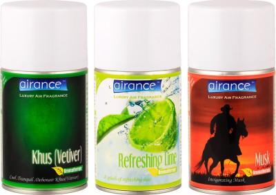 Airance Khus (Vetiver), Refreshing Lime, Musk Home Liquid Air Freshener(250 ml)
