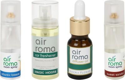 AirRoma Atlantic Breeze, Magic Mogra, Mogra Flower, Sweet Sandal Home Liquid Air Freshener(490 ml)