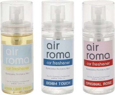 AirRoma Aqua Lime Fresh, Denim Touch, Original Rose Home Liquid Air Freshener(180 ml)
