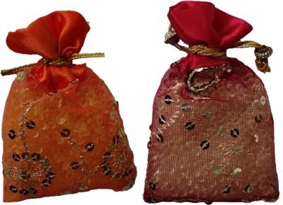 Miracle Perfume Potli - Set of 2 Orange and Strawberry Car  Perfume Gel