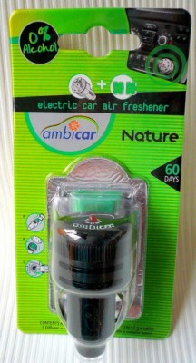 Ambicar Electric Car Air Perfume Diffuser Pack Nature ( Fresh And Natural) Car Perfume Liquid