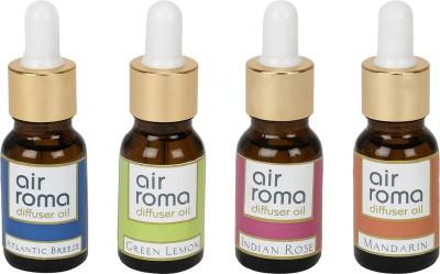 AirRoma Atlantic Breeze, Green Lemon, Indian Rose, Mandarin Home Liquid Air Freshener(60 ml)