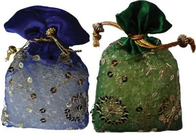 Miracle Perfume Potli - Set of 2 Vanilla and Garden Grass Car  Perfume Gel