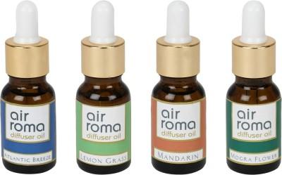 AirRoma Atlantic Breeze, Lemon Grass, Mandarin, Mogra Flower Home Liquid Air Freshener(90 ml)