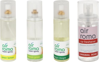 AirRoma Green Lemon, Lemon Grass, Magic Mogra, Original Rose Home Liquid Air Freshener(660 ml)