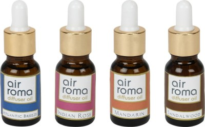 AirRoma Atlantic Breeze, Indian Rose, Mandarin, Sandalwood Home Liquid Air Freshener(90 ml)