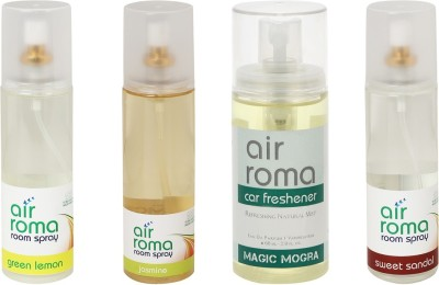 AirRoma Green Lemon, Jasmine, Magic Mogra, Sweet Sandal Home Liquid Air Freshener(660 ml)