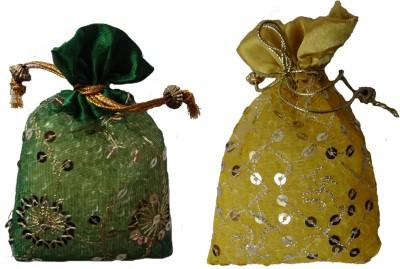 Miracle Perfume Potli - Set of 2 Musk and Sandal Car  Perfume Gel