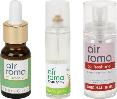 AirRoma Lemon Grass, Original Rose Home Liquid Air Freshener(275 ml)