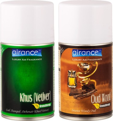 Airance Khus (Vetiver), Oud Wood Home Liquid Air Freshener