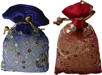 Miracle Perfume Potli - Set of 2 Red Rose and Vanilla Car  Perfume Gel