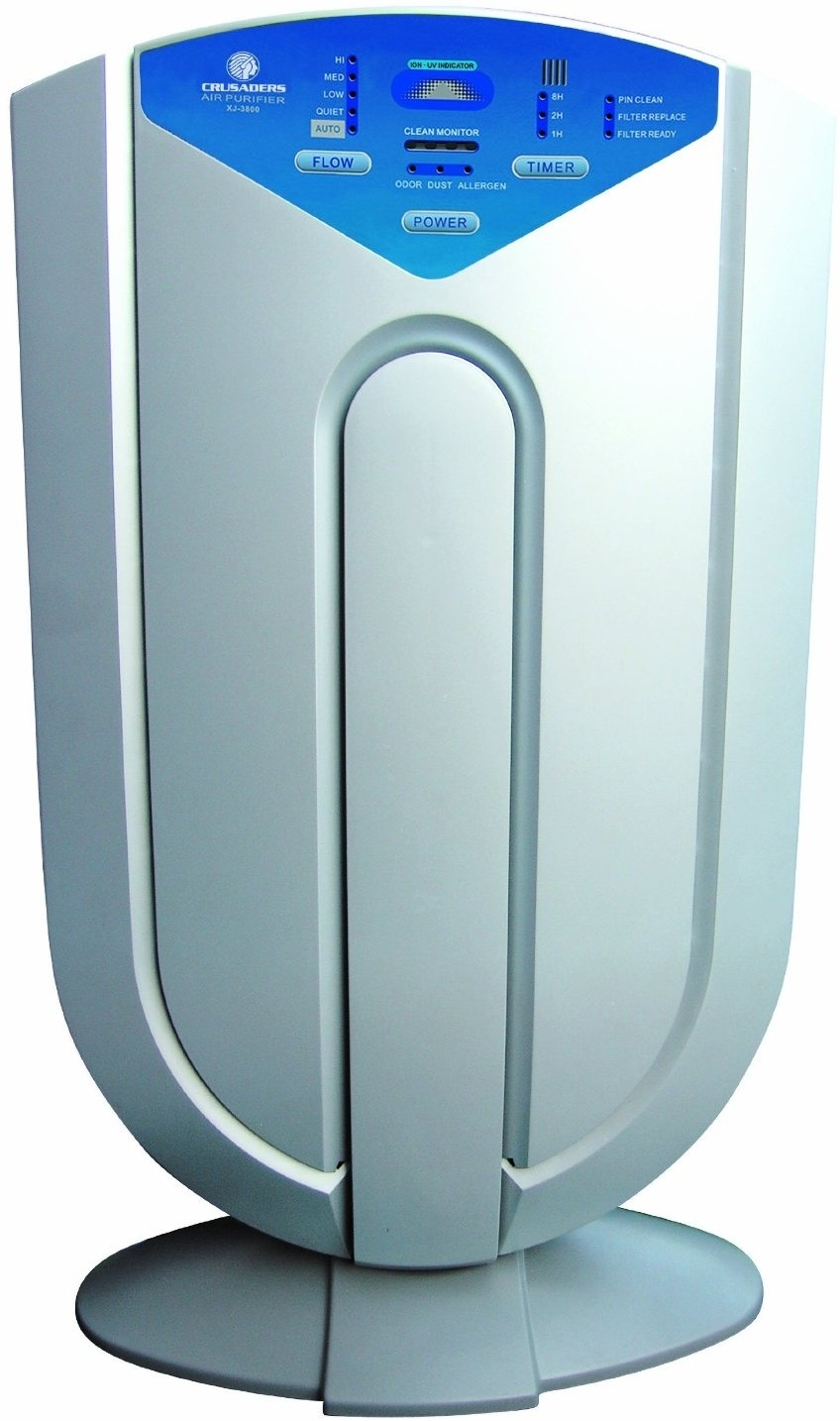 View Crusaders XJ-3800-1 Room Air Purifier(Silver) Home Appliances Price Online(Crusaders)