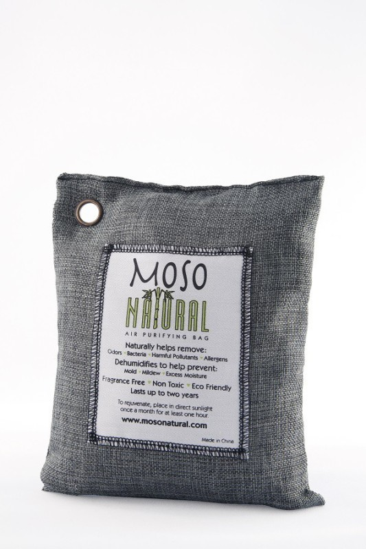 Moso Natural Air Purifying Bag 500g Charcoal Color Naturally Removes...