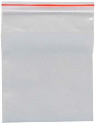 Webshoppers Resealable Plastic Air Tight Pouch(White Pack of 50)